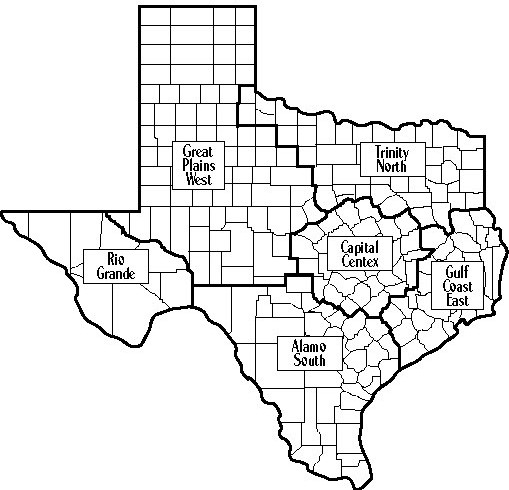 Map Of Texas District 6.Tota Regional Districts